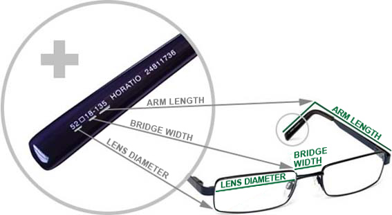 Total Frame Width Glasses : Frame measurements Specsavers New Zealand