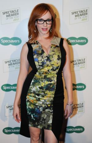 Christina Hendricks and Specsavers search for the 2012 Spectacle Wearer of the Year